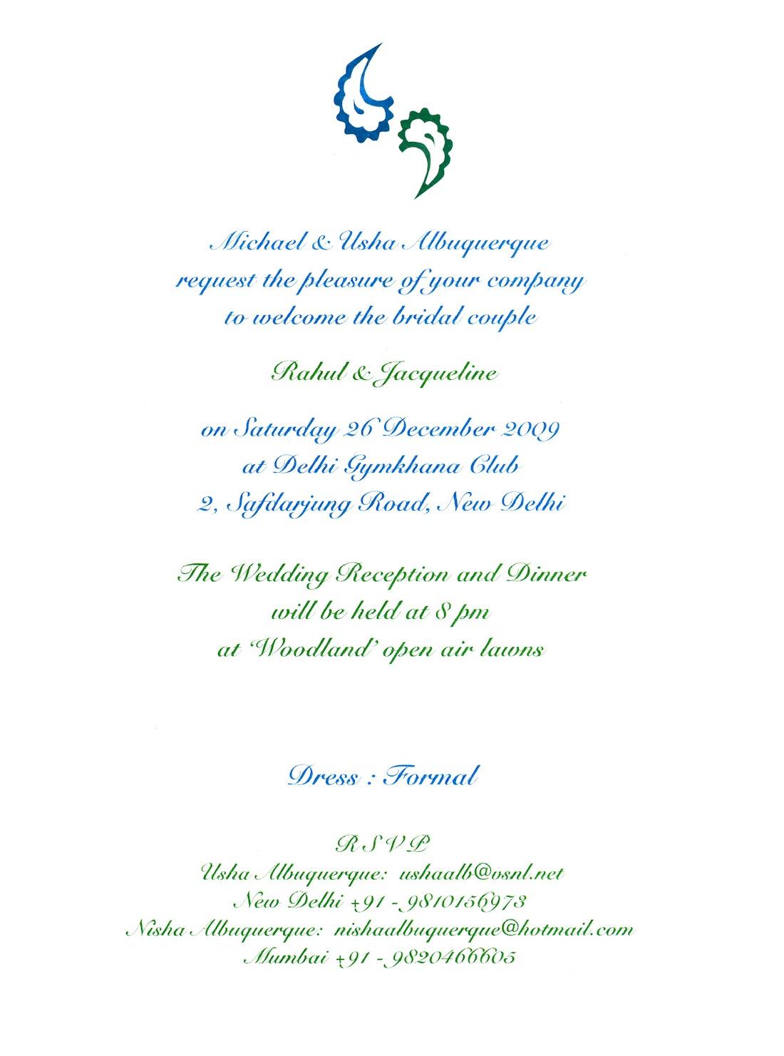 Rahul & Jacqueline – Wedding Invite, Envelope & Inserts | Nisha ...